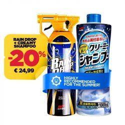 Soft99 Neutral Shampoo + Rain Drop Bazooka Szettben